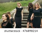 gorgeous women group in black... | Shutterstock . vector #476898214