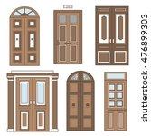 set of doors isolated. hand... | Shutterstock .eps vector #476899303