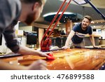 air hockey game  is fun even... | Shutterstock . vector #476899588