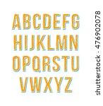 hand drawn sketch alphabet.... | Shutterstock .eps vector #476902078