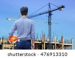 engineer holding yellow safety... | Shutterstock . vector #476913310