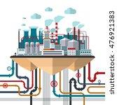 flat design concept of nature... | Shutterstock . vector #476921383