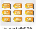various discount tags  | Shutterstock .eps vector #476928034