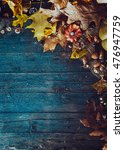thanksgiving dinner. autumn... | Shutterstock . vector #476947759