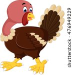 turkey bird cartoon | Shutterstock . vector #476949229