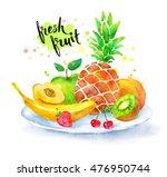 hand drawn watercolor... | Shutterstock . vector #476950744