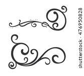 calligraphic design element ...   Shutterstock .eps vector #476950828
