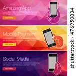 mobile cell phone for banner ... | Shutterstock .eps vector #476950834