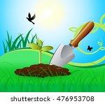 gardening trowel representing... | Shutterstock . vector #476953708