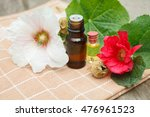 mallow essential oil container... | Shutterstock . vector #476961523
