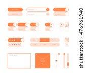 ui design elements vector....