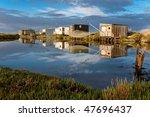 breton marsh in vendee in the... | Shutterstock . vector #47696437