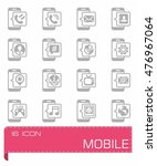 vector mobil icon set | Shutterstock .eps vector #476967064