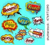 comic speech bubbles. vector... | Shutterstock .eps vector #476971090