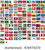 a flags of country world | Shutterstock . vector #476974270