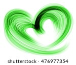 Green Lovely Romantic Heart ...