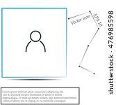 user icon | Shutterstock .eps vector #476985598