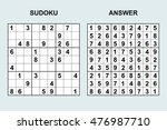 vector sudoku with answer....   Shutterstock .eps vector #476987710