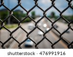 image of chain link fence on... | Shutterstock . vector #476991916