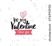 happy valentines day | Shutterstock .eps vector #476993950