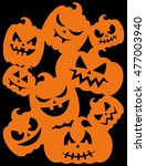 happy halloween card design.... | Shutterstock .eps vector #477003940