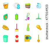 household elements icons set in ... | Shutterstock . vector #477014923