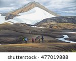 group of hikers in the...   Shutterstock . vector #477019888