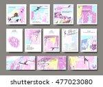 set of creative universal... | Shutterstock .eps vector #477023080