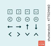arrow icon. various arrows set. ...