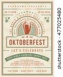 oktoberfest beer festival... | Shutterstock .eps vector #477025480
