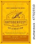 oktoberfest beer festival... | Shutterstock .eps vector #477025510