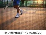 tennis net at sunset with... | Shutterstock . vector #477028120