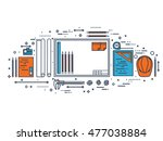 engineering and architecture.... | Shutterstock . vector #477038884