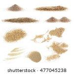 pile desert sand isolated on...   Shutterstock . vector #477045238