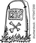 vector image of tombstones in a ... | Shutterstock .eps vector #477047200