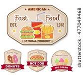 vintage fast food badge  banner ... | Shutterstock .eps vector #477049468