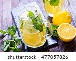 lemon drink  | Shutterstock . vector #477057826