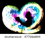 multicolored heart lovely... | Shutterstock . vector #477066844