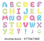 abc. colorful kids funny... | Shutterstock .eps vector #477067480