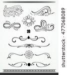 calligraphic design elements... | Shutterstock .eps vector #477068089