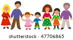 big family   isolated  tiff | Shutterstock . vector #47706865