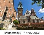 wawel cathedral on wawel hill... | Shutterstock . vector #477070069