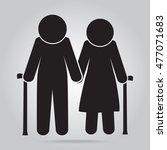 elderly symbol. old people icon ...   Shutterstock .eps vector #477071683