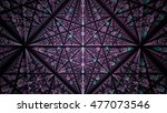 Complex Pattern Of Polygons. 3d ...