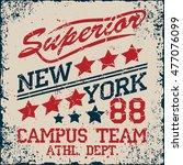 new york sport wear typography... | Shutterstock . vector #477076099