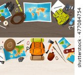 travel and tourism. flat style. ... | Shutterstock . vector #477084754