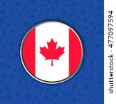 flag of canada in web button...   Shutterstock .eps vector #477097594