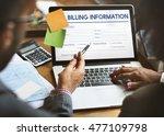 invoice billing information... | Shutterstock . vector #477109798