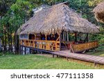 eco lodge made from bamboo... | Shutterstock . vector #477111358
