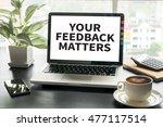 your feedback matters computing ... | Shutterstock . vector #477117514